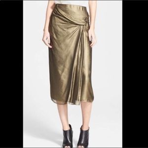 Burberry Authentic Silk Draped Skirt